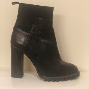 Zara High Heel Black Angle Boots